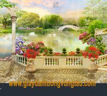 stock-photo-digital-fresco-flower-terrace-and-access-to-the-lake-with-white-swans-and-park-views-1244821729